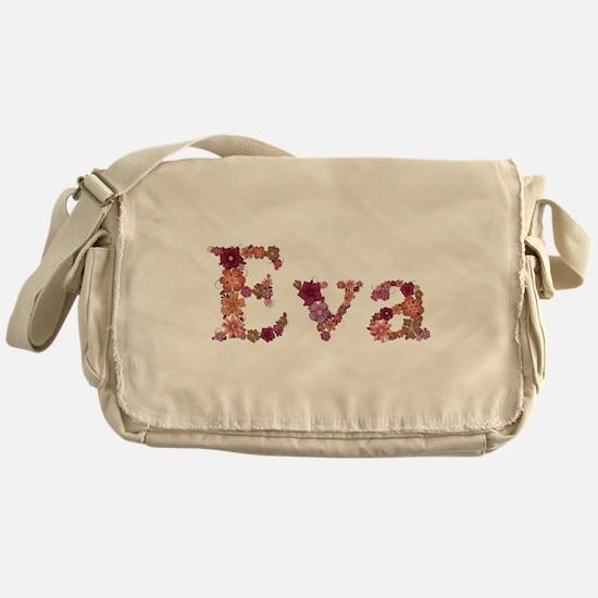 Eva Pink Flowers Messenger Bag