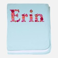 Erin Pink Flowers baby blanket