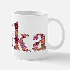 Erika Pink Flowers Mugs