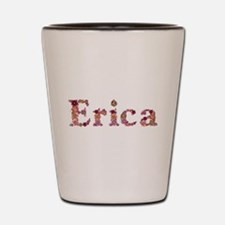 Erica Pink Flowers Shot Glass
