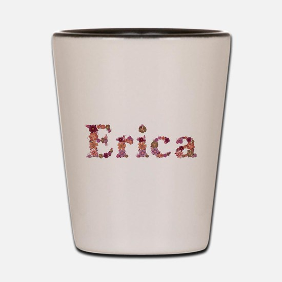 Erica Pink Flowers Shot Glass