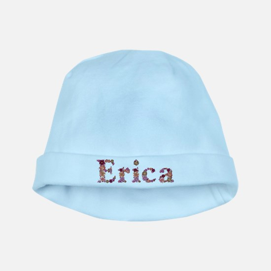 Erica Pink Flowers baby hat