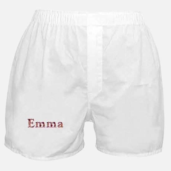 Emma Pink Flowers Boxer Shorts