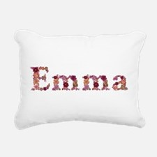 Emma Pink Flowers Rectangular Canvas Pillow