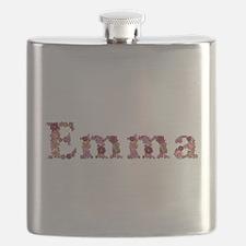 Emma Pink Flowers Flask