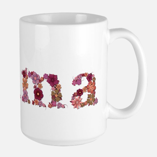 Emma Pink Flowers Mugs