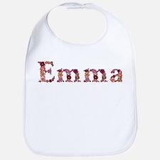 Emma Pink Flowers Bib