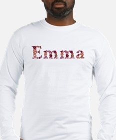 Emma Pink Flowers Long Sleeve T-Shirt