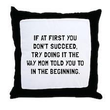 Yawn Coffee Throw Pillow