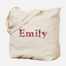 Emily Pink Flowers Tote Bag
