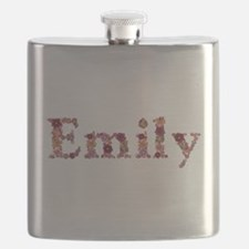 Emily Pink Flowers Flask