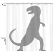 Dinosaur Silhouette Shower Curtain