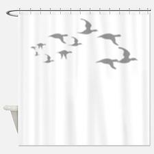 Migration Silhouette Shower Curtain