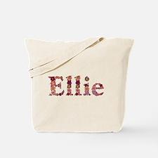 Ellie Pink Flowers Tote Bag