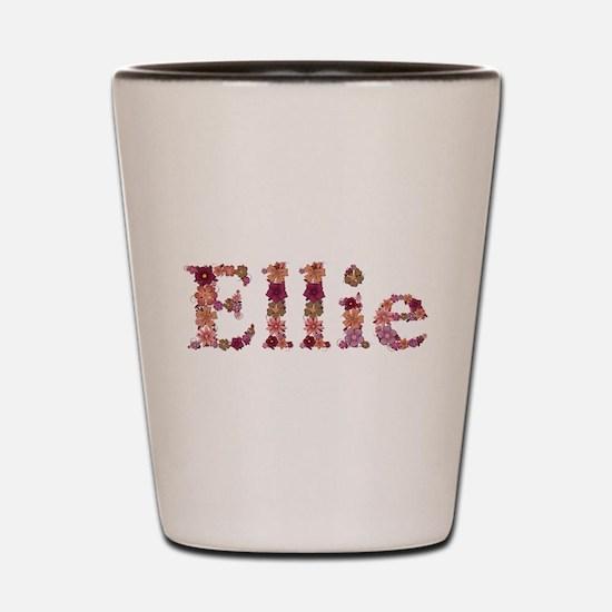 Ellie Pink Flowers Shot Glass