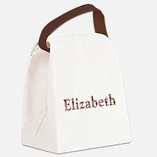 Elizabeth Pink Flowers Canvas Lunch Bag