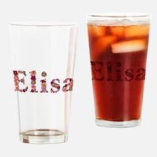 Elisa Pink Flowers Drinking Glass