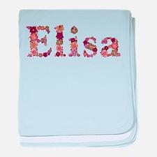 Elisa Pink Flowers baby blanket