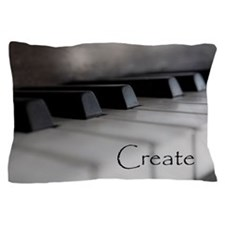 Piano Keys With Inspriational Word Cre Pillow Case