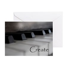 Piano Keys With Inspriational Word C Greeting Card