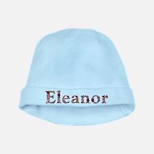 Eleanor Pink Flowers baby hat