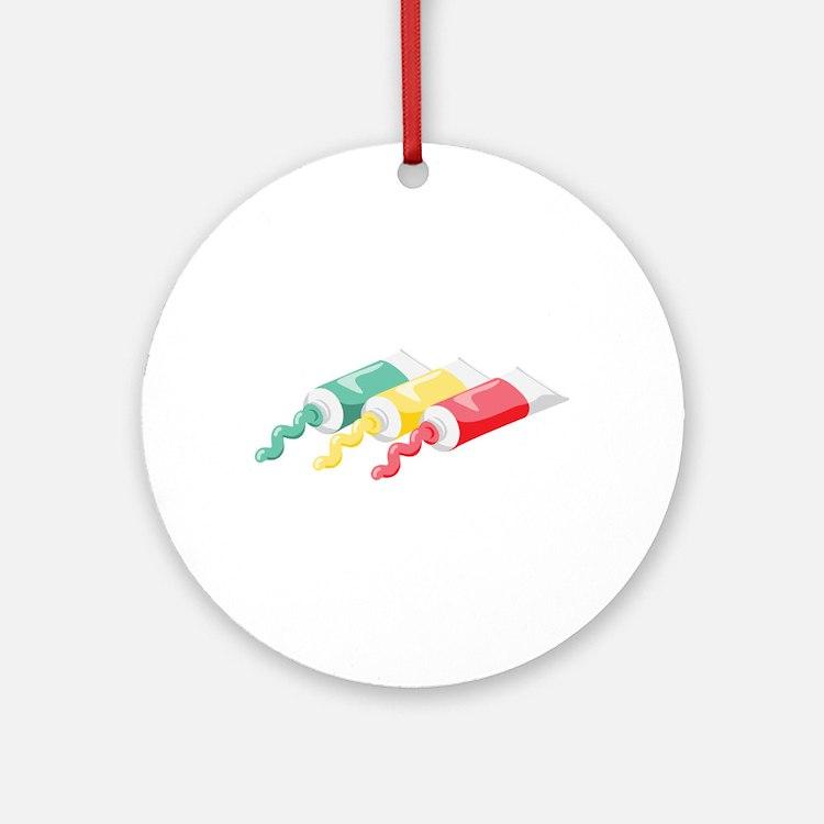 Artist Color Paints Ornament (Round)