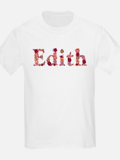 Edith Pink Flowers T-Shirt