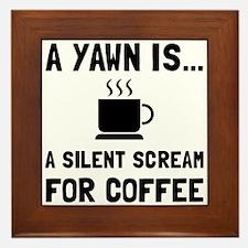 Yawn Coffee Framed Tile