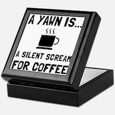 Yawn Coffee Keepsake Box