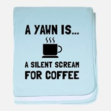 Yawn Coffee baby blanket