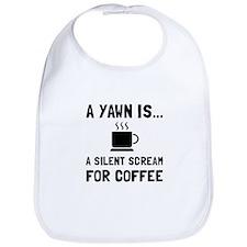 Yawn Coffee Bib