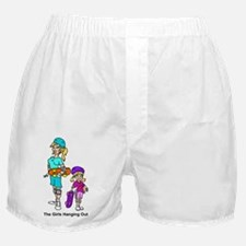 Funny Hanging with friends Boxer Shorts