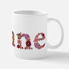 Diane Pink Flowers Mugs