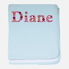 Diane Pink Flowers baby blanket