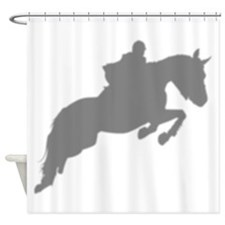 Jumping Horse Silhouette Shower Curtain