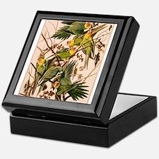 Print of Parakeets Keepsake Box