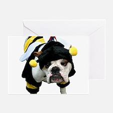 Bumble Bee Bulldog Greeting Cards (Pk of 10)