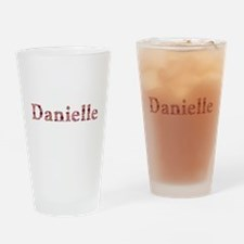 Danielle Pink Flowers Drinking Glass