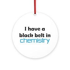 chemistry black belt Ornament (Round)