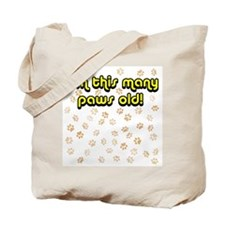 50 paws old Tote Bag