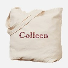 Colleen Pink Flowers Tote Bag