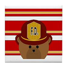 Firefighter Spirit Bear Tile Coaster