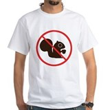 No squirrel Mens White T-shirts