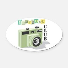 Year Book Club Oval Car Magnet