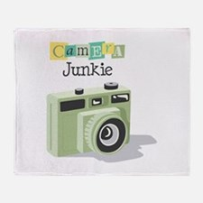 Camera Junkie Throw Blanket