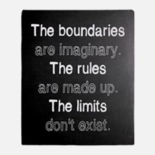 The Boundaries are Imaginary Throw Blanket