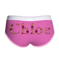 Chloe Pink Flowers Women's Boy Brief