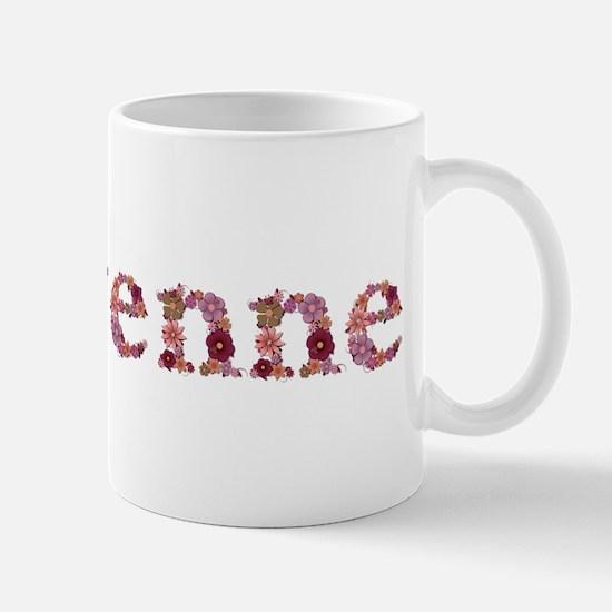Cheyenne Pink Flowers Mugs