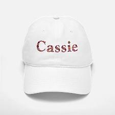 Cassie Pink Flowers Baseball Baseball Baseball Cap