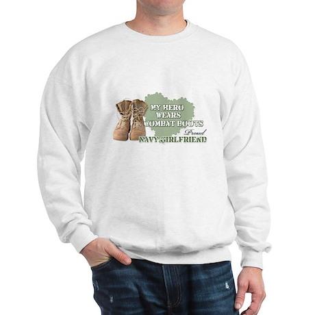My Hero Wears Combat Boots-Na Sweatshirt
